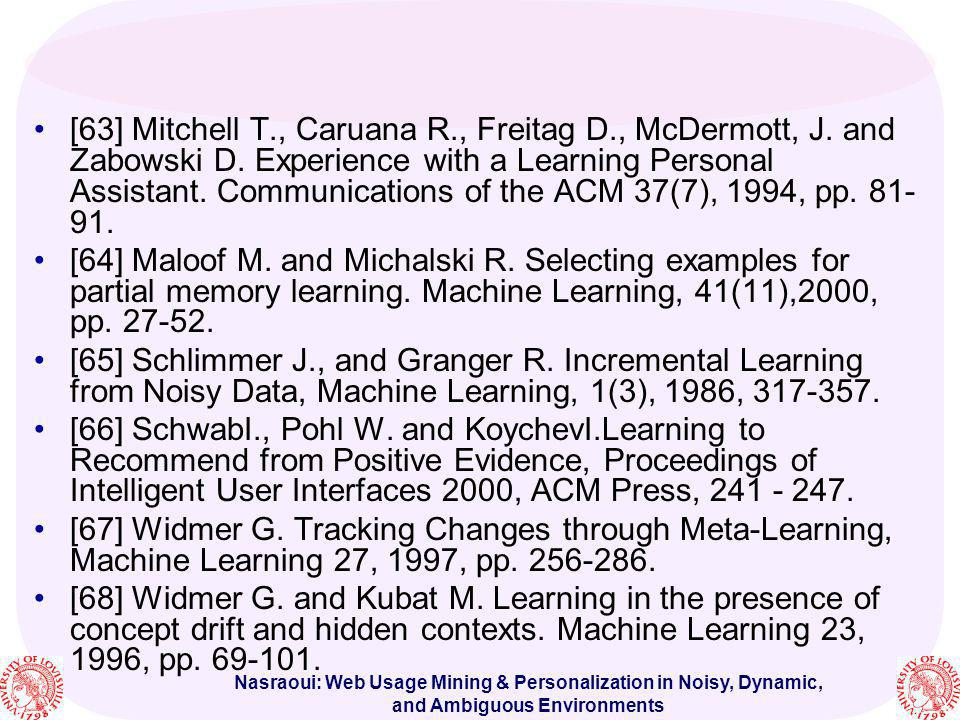 [63] Mitchell T. , Caruana R. , Freitag D. , McDermott, J